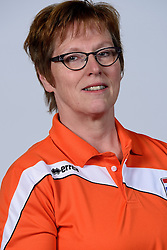 06-05-2014 NED: Selectie Nederlands zitvolleybal team vrouwen, Leersum<br /> In sporthal De Binder te Leersum werd het Nederlands team zitvolleybal seizoen 2014-2015 gepresenteerd / Elly Hooiveld