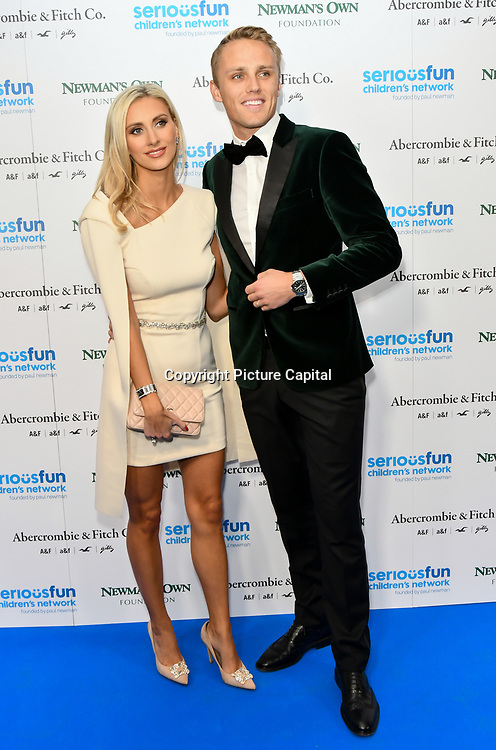 Max Chilton and Chloe Roberts Arrivers at Special gala in honour of SeriousFun Children's Network, the charity  started by actor and philanthropist Paul Newman at The Roundhouse, on 6 November 2018, London, UK.
