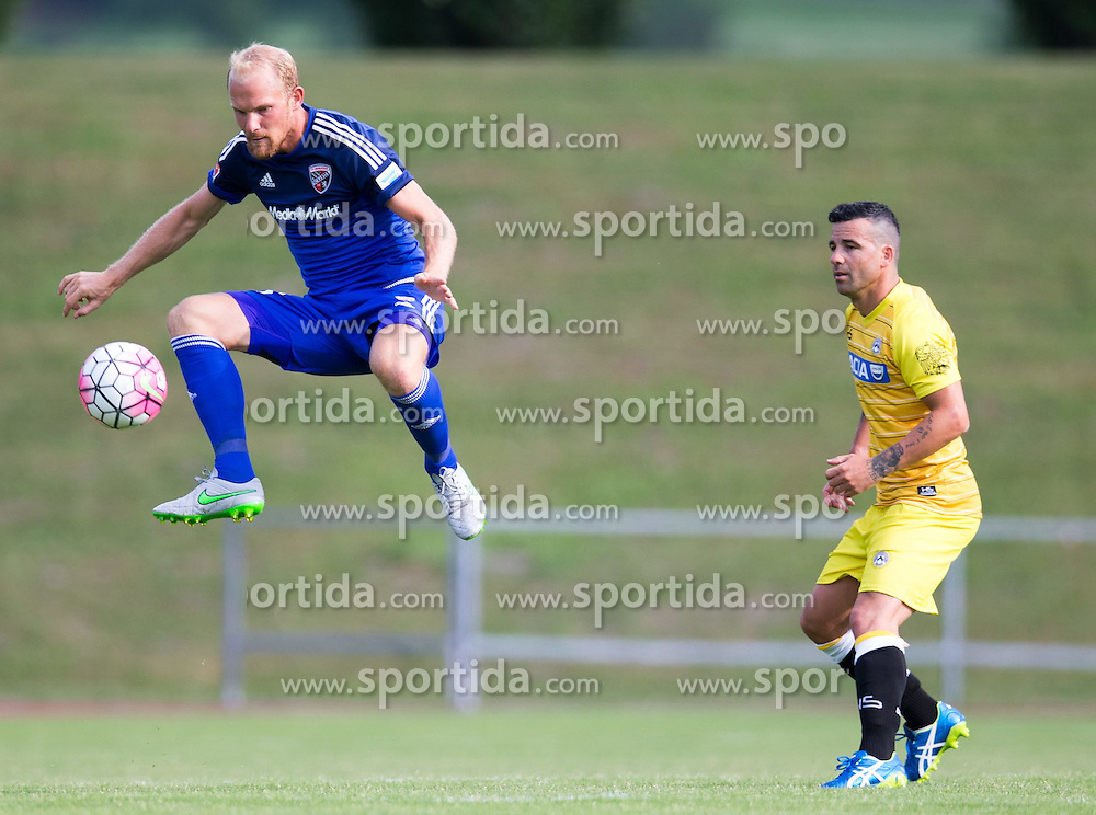 18.07.2015, Dolomitenstadion, Lienz, AUT, Testspiel, Arminia Bielefeld vs Udinese Calcio, im Bild Tobias Levels (FC Ingolstadt) // during a International Friendly Football Match between Arminia Bielefeld and Udinese Calcio at the Dolomitenstadion in Lienz, Austria on 2015/07/18. EXPA Pictures © 2015, PhotoCredit: EXPA/ Johann Groder