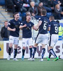 Falkirk's Craig Sibbald celebrates after scoring their first goal. <br /> Half time ; Falkirk 2 v 0 St Mirren. Scottish Championship game played 21/10/2015 at The Falkirk Stadium.