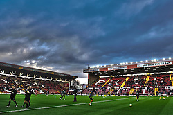 Wolves players warm up before the first half of the match - Photo mandatory by-line: Rogan Thomson/JMP - Tel: Mobile: 07966 386802 01/12/2012 - SPORT - FOOTBALL - Ashton Gate - Bristol. Bristol City v Wolverhampton Wanderers - npower Championship.