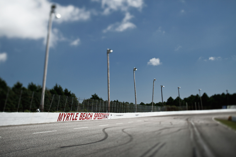 selective focus image of the Myrtle Beach Speedway