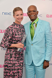 EMILY VANCAMP and SAMUEL L JACKSON at the Glamour Women of The Year Awards in Association with Next held in Berkeley Square Gardens, Berkeley Square, London on 3rd June 2014.
