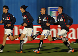 09.06.2010, .Centurion, Johannesburg, RSA, FIFA WM 2010, Italien Training im Bild Christian Maggio, Giorgio Chiellini, Fabio Cannavaro e Salvatore Bocchetti., EXPA Pictures © 2010, PhotoCredit: EXPA/ InsideFoto/ G. Perottino / SPORTIDA PHOTO AGENCY