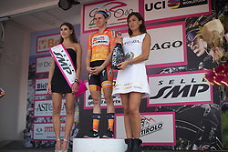 Megan Guarnier (USA) of Boels-Dolmans Cycling Team retained the overall leader's pink jersey after the Giro Rosa 2016 - Stage 7. A 21.9 km individual time trial from Albisola to Varazze, Italy on July 8th 2016.