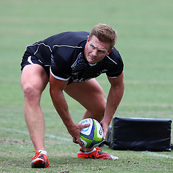 DURBAN, SOUTH AFRICA, Monday 11,January 2016 - Michael Claassens during The Cell C Sharks Pre Season training Monday 11th January 2016,for the 2016 Super Rugby Season at Growthpoint Kings Park in Durban, South Africa. (Photo by Steve Haag)<br /> images for social media must have consent from Steve Haag