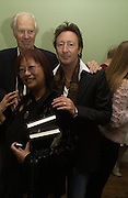 Sir George Martin, May Ling and Julian Lennon, Launch of 'John' by Cynthia Lennon at Six, Fitzroy Sq. London. 27 September 2005. ONE TIME USE ONLY - DO NOT ARCHIVE © Copyright Photograph by Dafydd Jones 66 Stockwell Park Rd. London SW9 0DA Tel 020 7733 0108 www.dafjones.com