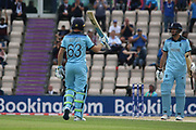 Buttler reaches 50 during the ICC Cricket World Cup 2019 warm up match between England and Australia at the Ageas Bowl, Southampton, United Kingdom on 25 May 2019.