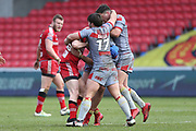 Jason Baitieri for Catalan Dragons during the Betfred Super League match between Salford Red Devils and Catalan Dragons at the AJ Bell Stadium, Eccles, United Kingdom on 30 March 2018. Picture by George Franks.