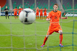 Pascal Huser of Netherlands during the UEFA European Under-17 Championship Final match between Germany and Netherlands on May 16, 2012 in SRC Stozice, Ljubljana, Slovenia. (Photo by Urban Urbanc / Sportida.com)