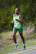 MOSSEL BAY, SOUTH AFRICA - SEPTEMBER 23: Loveness Madziva of South Africa (winner) during the PetroSA Marathon hosted by Athletics South Western Districts (SWD) on September 23, 2017 in Mossel Bay, South Africa. (Photo by Roger Sedres/ImageSA)