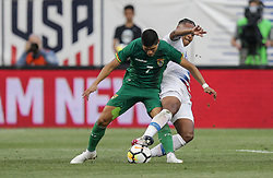 May 28, 2018 - Chester, PA, USA - Chester, PA - Monday May 28, 2018: Luis Alí, Weston McKennie during an international friendly match between the men's national teams of the United States (USA) and Bolivia (BOL) at Talen Energy Stadium. (Credit Image: © John Dorton/ISIPhotos via ZUMA Wire)