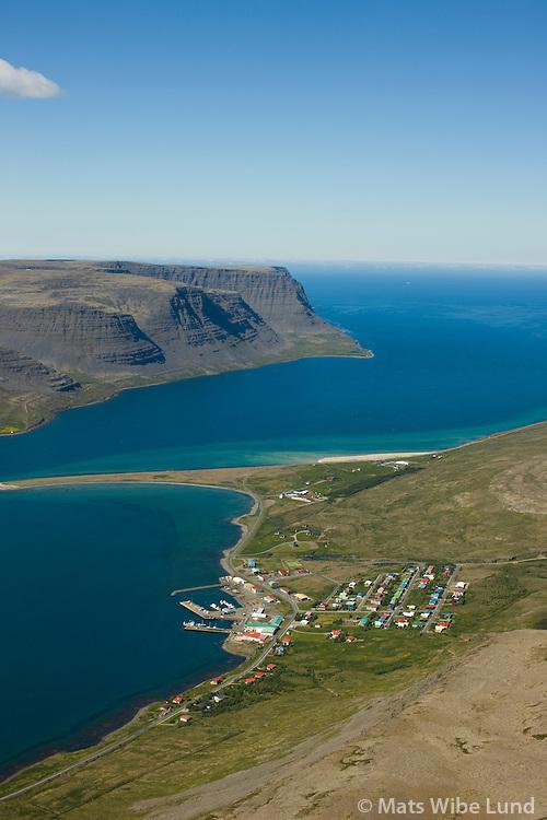 Tálknafjörður til vesturs / Talknafjordur viewing west.