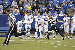 Receiver Demarco Robinson runs in a touchdown in the first half. UK Blue/White Football game 2012, Saturday, April 21, 2012 at the Commonwealth Stadium in Lexington.