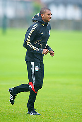 LIVERPOOL, ENGLAND - Tuesday, September 30, 2008: Liverpool's David Ngog training at Melwood ahead of the UEFA Champions League Group D match against PSV Eindhoven. (Photo by David Rawcliffe/Propaganda)