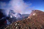 Pu'u O'o vent, Kilauea Volcano, HVNP, Island of Hawaii<br />