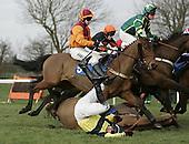 Horse Racing at Huntingdon Racecourse. 11-3-2009
