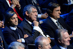 LAUSANNE, SWITZERLAND - Wednesday, January 24, 2018: Portugal head coach Fernando Santos during the draw for the new UEFA Nations League tournament at the SwissTech Convention Centre. (Pic by Pool/UEFA/Propaganda)