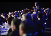NJ Governor Chris Christie gives his address at the Congressional Dinner in DC. The New Jersey Chamber of Commerce held its annual Walk to Washington and Congressional Dinner on April 22 and 23, 2014. /Russ DeSantis Photography and Video, LLC