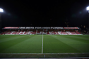 Griffin Park on a cold wet evening during the Sky Bet Championship match between Brentford and Middlesbrough at Griffin Park, London, England on 12 January 2016. Photo by Matthew Redman.