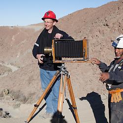 Photographer Sean Hawkey with Ing Rodolfo Pánez, Santa Filomena, Ayacucho