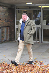 © Licensed to London News Pictures.17/10/2017.<br /> Sevenoaks, UK.<br /> Paul Golding.<br /> Britain First leader Paul Golding 35 and Deputy Leader Jayda Fransen at Sevenoaks Magistrates Court, Kent charged with religiously aggravated harassment.<br /> Photo credit: Grant Falvey/LNP