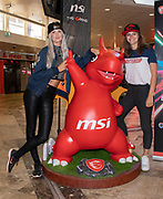 Media Markt, Utrecht. MSI Game Event. Op de foto: xSyoss en Royal Puck