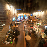 Overhead view of Bend Brewing Company bar