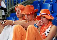 21-06-2008: Voetbal: Nederland-Rusland: Basel <br /> De teleurstelling is groot onder de oranje supporters<br /> Foto: Geert van Erven