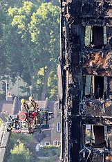 London: Grenfell Estate Tower Block Fire Aftermath - 16 June 2017
