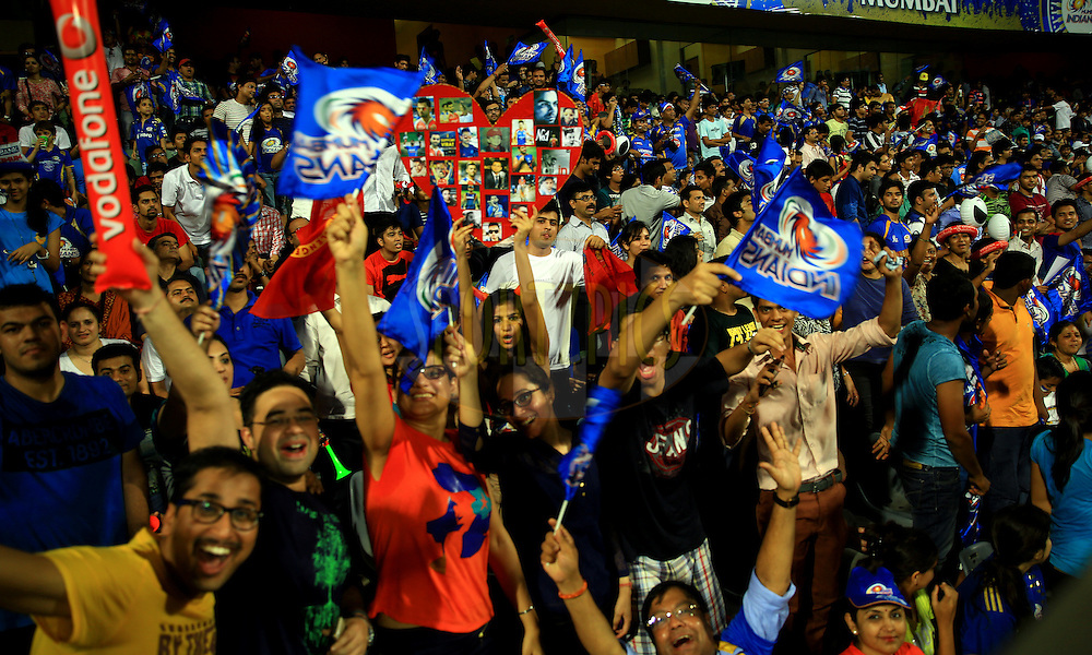 Fan's Enjoys during match 27 of the Pepsi Indian Premier League Season 2014 between the Mumbai Indians and the Royal Challengers Bangalore held at the Wankhede Cricket Stadium, Mumbai, India on the 6th May  2014<br /> <br /> Photo by Sandeep Shetty / IPL / SPORTZPICS<br /> <br /> <br /> <br /> Image use subject to terms and conditions which can be found here:  http://sportzpics.photoshelter.com/gallery/Pepsi-IPL-Image-terms-and-conditions/G00004VW1IVJ.gB0/C0000TScjhBM6ikg