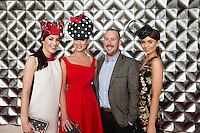 Catwalk models meets the blogger....Gayle Kelly, Kelly McGrath, Kieran O Malley and Tirna Slevin in the g hotel for the launch of The Galway Races 2016 Summer Festival which runs from the 25th of July to the 31st of July in Galway City. Photo: Andrew Downes :