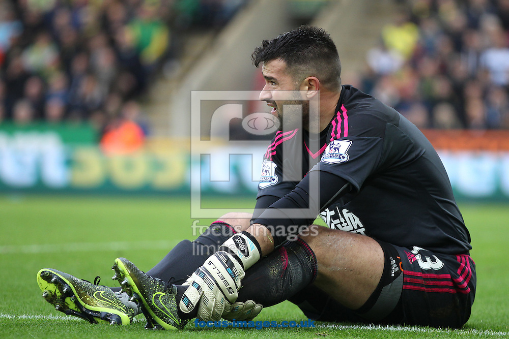 Boaz Myhill of West Bromwich Albion during the Barclays Premier League match at Carrow Road, Norwich<br /> Picture by Paul Chesterton/Focus Images Ltd +44 7904 640267<br /> 24/10/2015