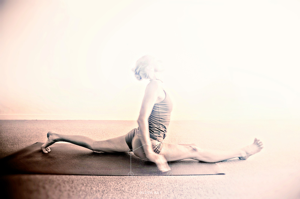 Yogini disapperaring into the light of her practice.<br /> :::<br /> &ldquo;Intuition is really a sudden immersion of the soul into the universal current of life.&rdquo; <br /> ― Paulo Coelho, The Alchemist