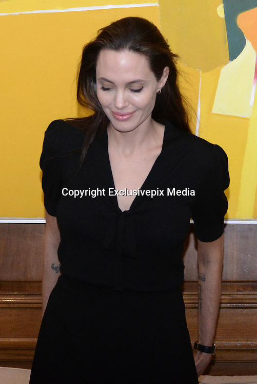 March 16, 2016 - Athens, Attica, Greece - <br /> <br /> Angelina Jolie Visits Refugee Camp in Greece<br /> <br /> UNHCR ambassador and famous Hollywood actor Angelina Jolie<br /> ©Exclusivepix Media