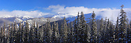 The Continental Divide of the Rocky Mountains in winter from Keystone Ski Resort