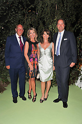 Left to right, VISCOUNT & VISCOUNTESS DAVENTRY and the HON.HARRY & MRS HERBERT at a dinner hosted by Cartier in celebration of the Chelsea Flower Show held at Battersea Power Station, 188 Kirtling Street, London SW8 on 23rd May 2011.
