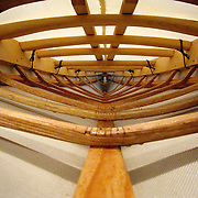 Construction photographs of a traditional Greenland-style skin-on-frame kayak