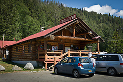 The 33 Mile Roadhouse, restaurant and gas station, located on the scenic Haines Highway (Alaska Highway 7) near the Canadian border is popular with tourists, heli-skiers and local residents. The original roadhouse building was built during the 1930's but later was destroyed in a fire in 1984. The current structure on the original site was built and open for business nine months later. 33 Mile Roadhouse is just up from banks of the Klehini River and near the Porcupine Creek gold mining area.