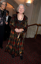 Writer PD JAMES at a dinner to announce the 2005 Man Booker Prize held at The Guilhall, City of London on 10th October 2005.<br /><br />NON EXCLUSIVE - WORLD RIGHTS