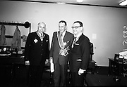 21/07/1967<br /> 07/21/1967<br /> 21 July 1967<br /> Greek Order conferred on Sean Lemass. The Sovereign Greek Order of Saint Denis of Zante was conferred on the former Taoiseach, Sean Lemass T.D. at Leinster House, Dublin. Pericles Voultsos, the Grand Master of the Order travelled specially from the United States to confer the Order of Knighthood on Mr. Lemass. Picture shows Mr. Phoebus Moussoulides, Charge D'Affaires of the Order in Dublin; Mr. Lemass and Dr. Voultsos.