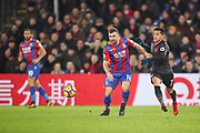 James McArthur of Crystal Palace and Alexis Sanchez of Arsenal battle for the ball during the Premier League match between Crystal Palace and Arsenal at Selhurst Park, London, England on 28 December 2017. Photo by Toyin Oshodi.