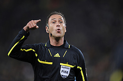 Referee Olegario BENQUERENCA (POR) during the 2010 FIFA World Cup South Africa Quarter Final match between Uruguay and Ghana at the Soccer City stadium on July 2, 2010 in Johannesburg, South Africa.