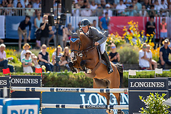 BEERBAUM, Ludger (GER), Cool Feeling<br /> Berlin - Global Jumping Berlin 2019<br /> CSI5* - LONGINES GLOBAL CHAMPIONS TOUR Grand Prix of Berlin <br /> presented by TENNOR<br /> Wertungsprüfung zur Longines Global Champions Tour 2019 <br /> Springprüfung mit Stechen, international<br /> 27. Juli 2019<br /> © www.sportfotos-lafrentz.de/Stefan Lafrentz