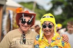 Music fans Peter Moran and John Murnaghan enjoying the Westport Festival.<br /> Pic Conor McKeown