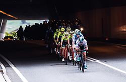 11.07.2019, Kitzbühel, AUT, Ö-Tour, Österreich Radrundfahrt, 5. Etappe, von Bruck an der Glocknerstraße nach Kitzbühel (161,9 km), im Bild Peloton bei einer Tunnelausfahrt // Peloton bei einer Tunnelausfahrt during 5th stage from Bruck an der Glocknerstraße to Kitzbühel (161,9 km) of the 2019 Tour of Austria. Kitzbühel, Austria on 2019/07/11. EXPA Pictures © 2019, PhotoCredit: EXPA/ JFK