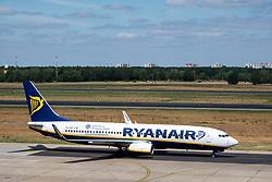 Ryanair passenger aircraft at Tegel Airport in Berlin, Germany