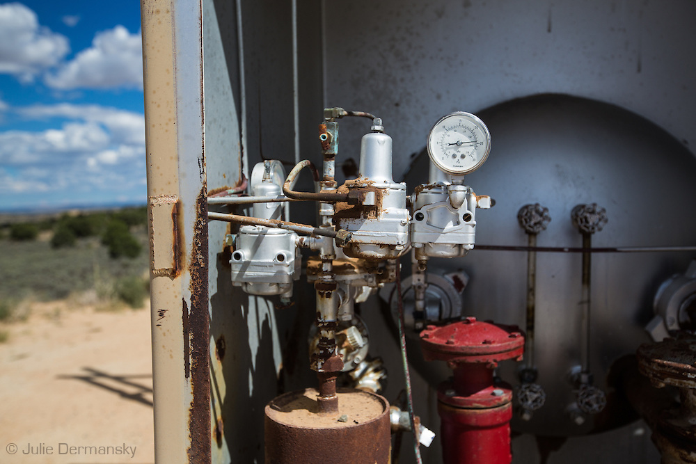 Gas industry site on federal land in the San Juan Basin in Northwestern New Mexico where fracking is booming.