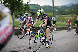 Rozanne Slik (NED) of Liv-Plantur Cycling Team rides up on the day's main climb during the Giro Rosa 2016 - Stage 1. A 104 km road race from Gaiarine to San Fior, Italy on July 2nd 2016.