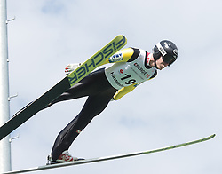 27.09.2015, Energie AG Skisprung Arena, Hinzenbach, AUT, FIS Ski Sprung, Sommer Grand Prix, Hinzenbach, im Bild Markus Schiffner (AUT)// during FIS Ski Jumping Summer Grand Prix at the Energie AG Skisprung Arena, Hinzenbach, Austria on 2015/09/27. EXPA Pictures © 2015, PhotoCredit: EXPA/ Reinhard Eisenbauer